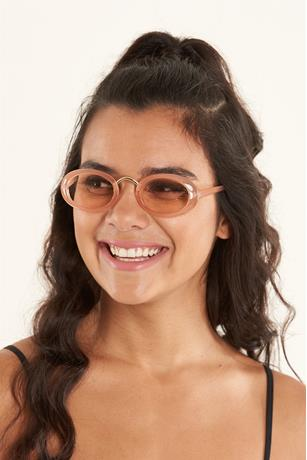Colored Oval Sunglasses BLUSH