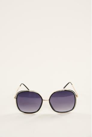 Outline Trim Sunglasses BLACK