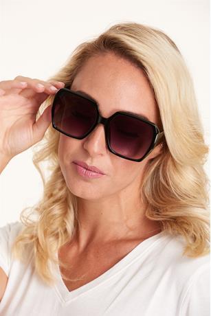 Big Square Frame Sunglasses BLACK