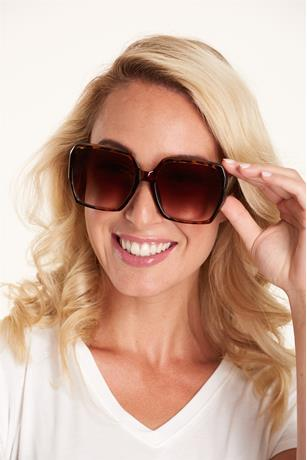 Big Square Frame Sunglasses BROWN