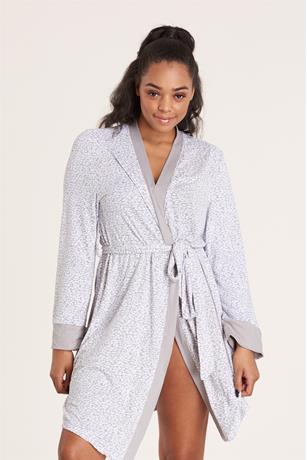 Cheetah Print Robe GRAY
