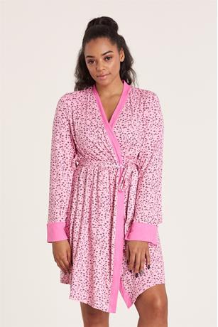 Heart Print Robe PINK