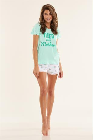 Tired Two Piece Pajama Set MINT