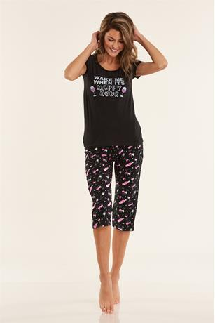 Happy Hour Pajama Set BLACK