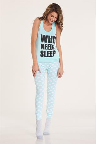Who Needs Sleep Pj Set MINT
