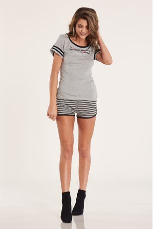 On Strike Pajama Set GRAY