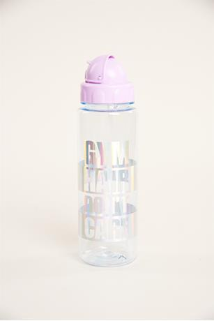 Gym Hair Water Bottle PURPLE