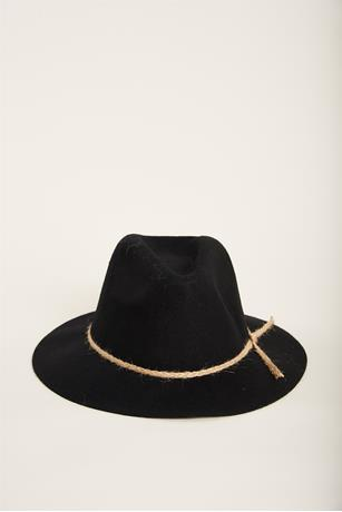 Panama Felt Hat BLACK