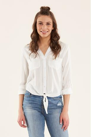 Shadow Stripe Shirt IVORY