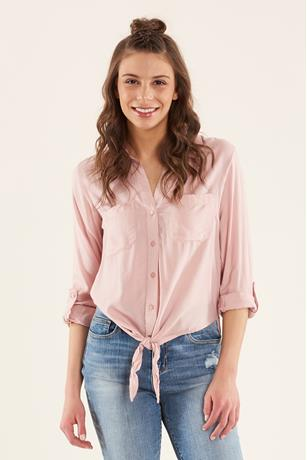 Shadow Stripe Shirt ROSE