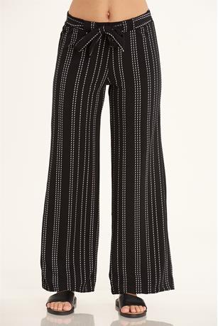 Stripe Wide Leg Pants BLKWHT