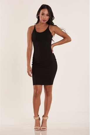 Ponte Tank Dress BLACK