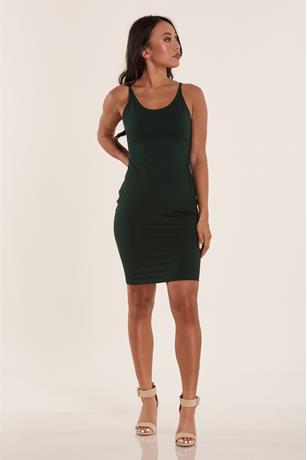 Ponte Tank Dress DARK GREEN