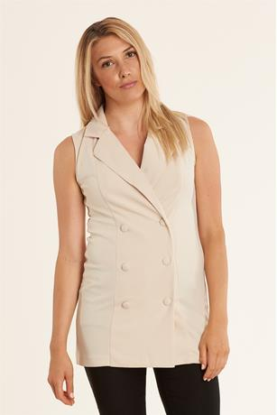 Double Button Vest KHAKI