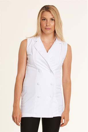 Double Button Vest WHITE