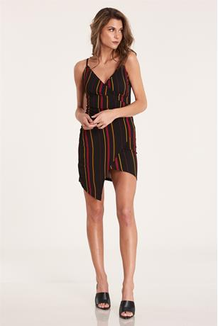 Tank Asymmetrical Dress RED