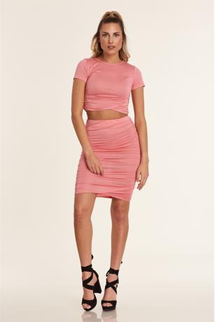 Ruched Side Skirt BLUSH