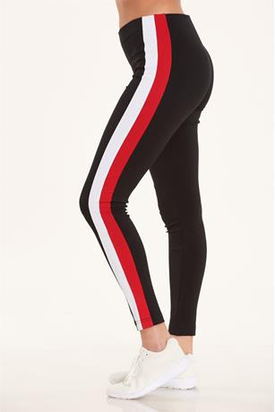Striped Leggings BLACK