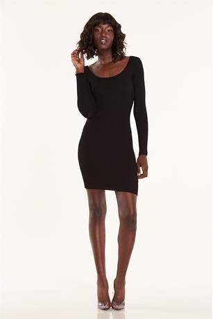 Caged Back Dress BLACK