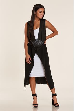 Longline Vest BLACK