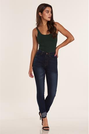 Ponte Tank Bodysuit DARK GREEN