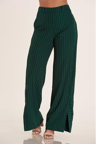 High Waist Stripe Pants GREEN