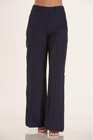 High Waist Stripe Pants NAVY