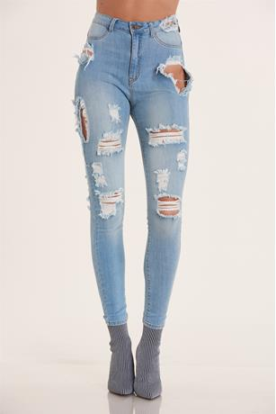 Aphrodite Destroyed Jeans LIGHT WASH