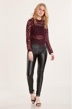 Lace Top BURGANDY