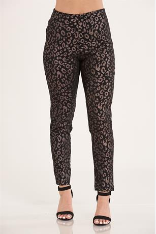 Animal Print Pull On Pants
