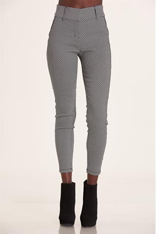 Jacquard Pants BLKWHT