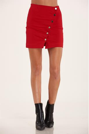 Ponte Knit Skirt RED
