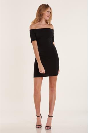 Ponte Knit Dress BLACK