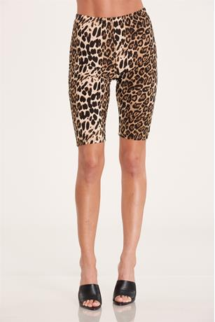 Print Biker Shorts BROWN