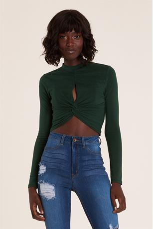 Front Slit Top GREEN