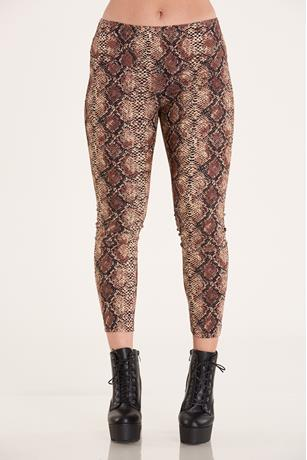 Print Pull On Pants BROWN