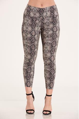 Print Pull On Pants GRAY