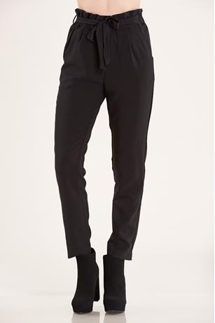 PaperBag Waist Pants BLACK