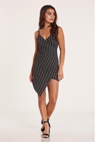 Stripe Asymmetrical Dress