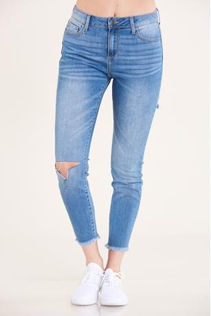 Cello Slit Knee Jeans MED WASH