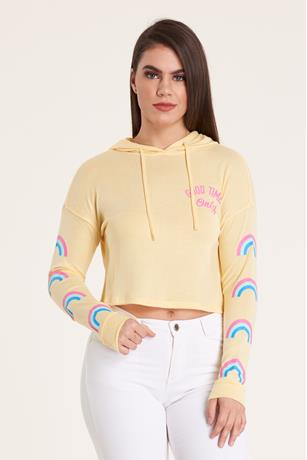 Graphic Hood Sweatshirt YELLOW