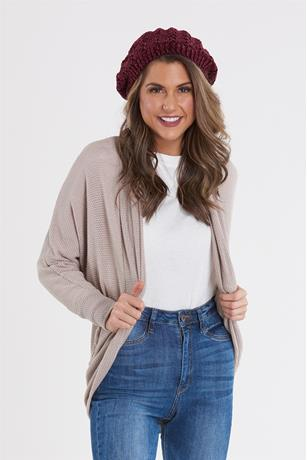 Open Knit Slouchy Cardigan