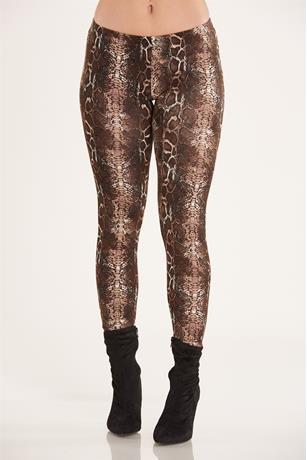 Snake Skin Print Legging BROWN