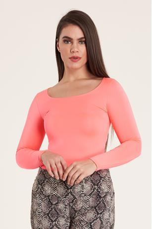 Long Sleeve Bodysuit CORAL