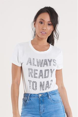 Always Ready Front Knot Top WHITE