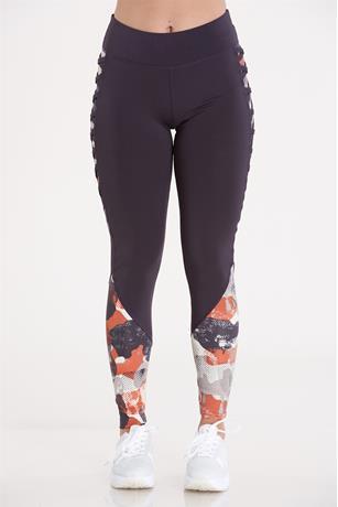 Print Active Leggings CHARCOAL