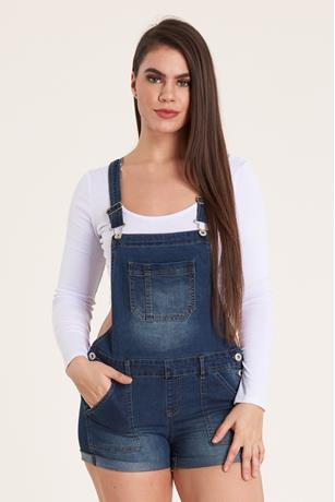 Denim Shortalls DARK WASH