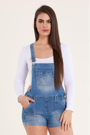 Denim Shortalls MED WASH