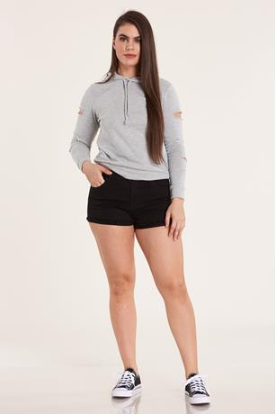 BLK CUFF SHORT BLACK