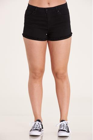 Black Cuff Shorts BLACK